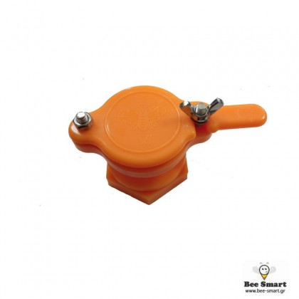 Κάνουλα Πλαστική Πορτοκαλί by www.bee-smart.gr