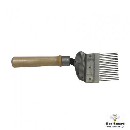 Πιρούνι απολεπισμού με ξύλινη λαβή by www.bee-smart.gr