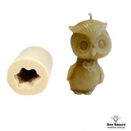 Καλούπι σιλικόνης κουκουβάγια άρρεν by www.bee-smart.gr