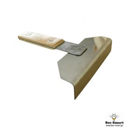Ανοξείδωτη ξύστρα κυψέλης μικρή by www.bee-smart.gr