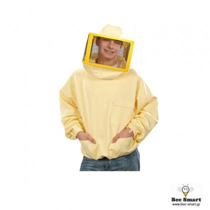 Μπουφάν με μεταλλικό πλέγμα χωρίς φερμουάρ by www.bee-smart.gr
