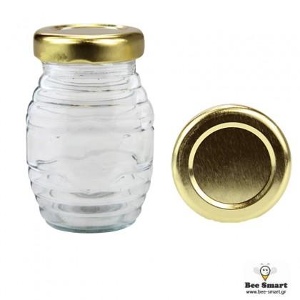 Βάζο γυάλινο 106 ml Ριγωτό by www.bee-smart.gr