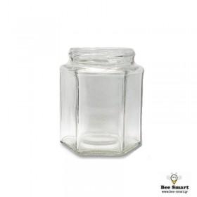 Βάζο γυάλινο 280 ml εξάγωνο