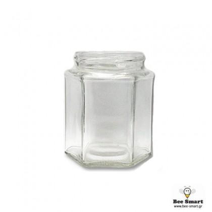 Βάζο γυάλινο 280 ml εξάγωνο by www.bee-smart.gr