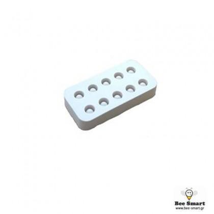 Καλούπι σιλικόνης για 10 βασιλικά κελιά by www.bee-smart.gr