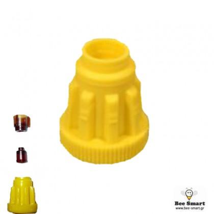 Κίτρινες ραβδωτές βάσεις Ζέντερ (60τεμ) by www.bee-smart.gr